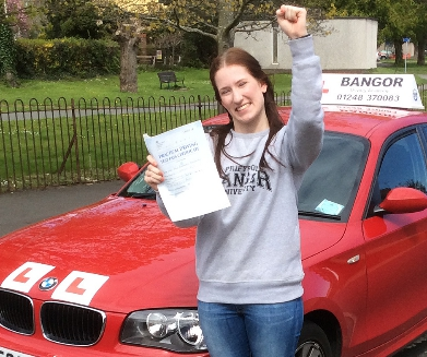 Holly<br/>I would thoroughly recommend Bangor Driving Academy <br/>Thank you Richard & Irene<br/><br/>